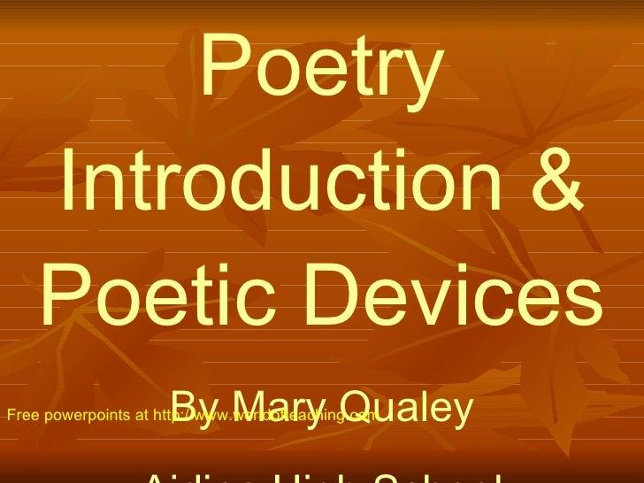 1 Poetic Devices
