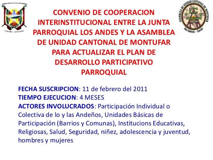 Presentación POT en Parroquia Rural Los Andes
