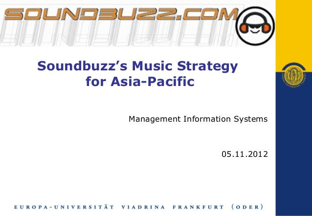 Soundbuzz's Music Strategy for Asia-Pacific