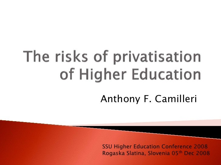 What are the Risks of HE Privatisation?