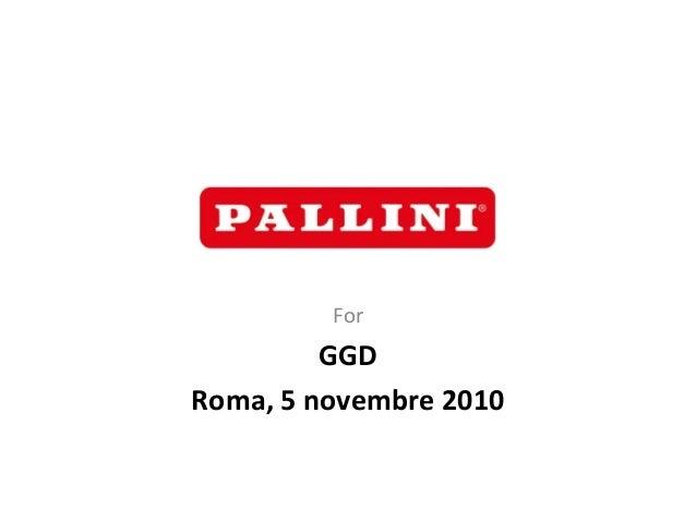 For GGD Roma, 5 novembre 2010