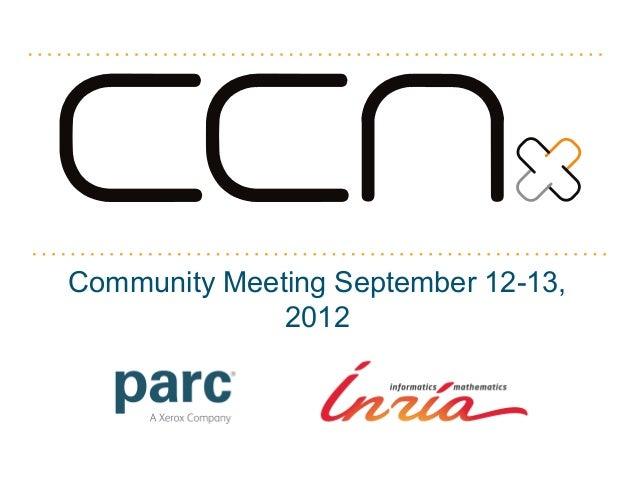 Community Meeting September 12-13,              2012