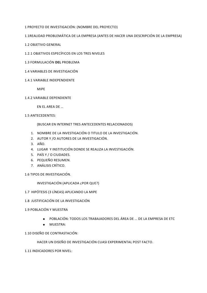 1 PROYECTO DE INVESTIGACIÓN: (NOMBRE DEL PROYECTO)<br />1.1REALIDAD PROBLEMÁTICA DE LA EMPRESA (ANTES DE HACER UNA DESCRIP...