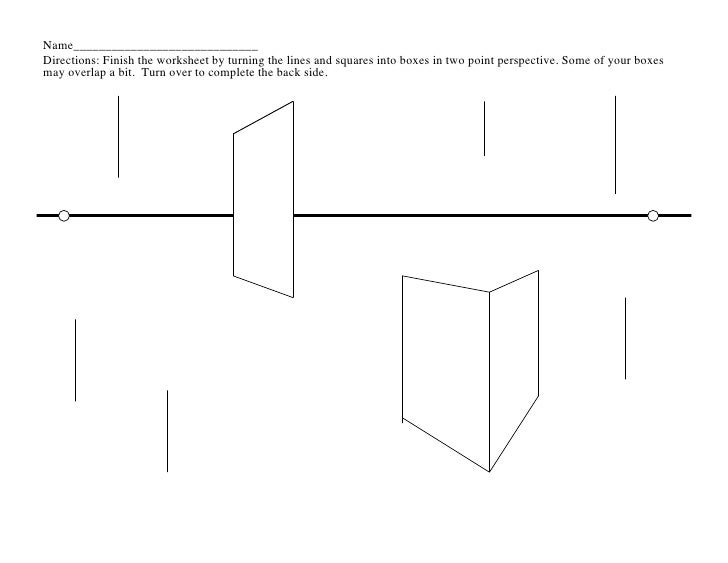 Name_____________________________Directions: Finish the worksheet by turning the lines and squares into boxes in two poin...
