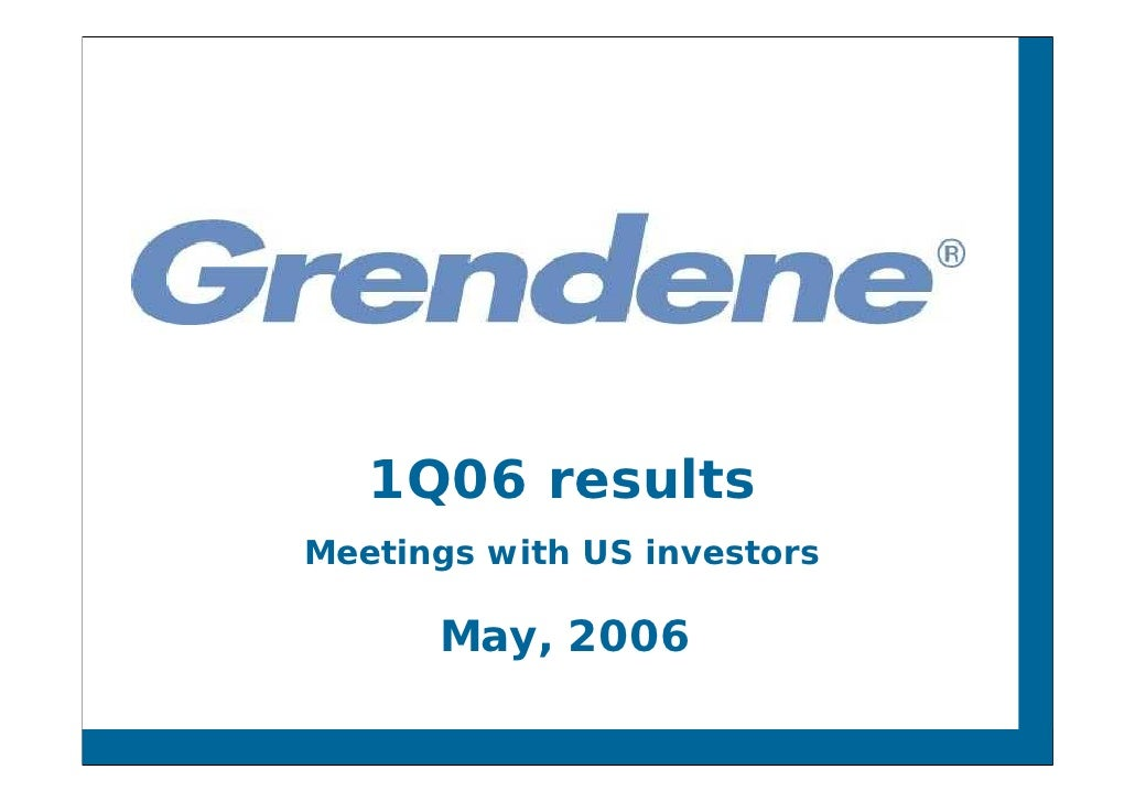 1Q06 results Meetings with US investors        May, 2006