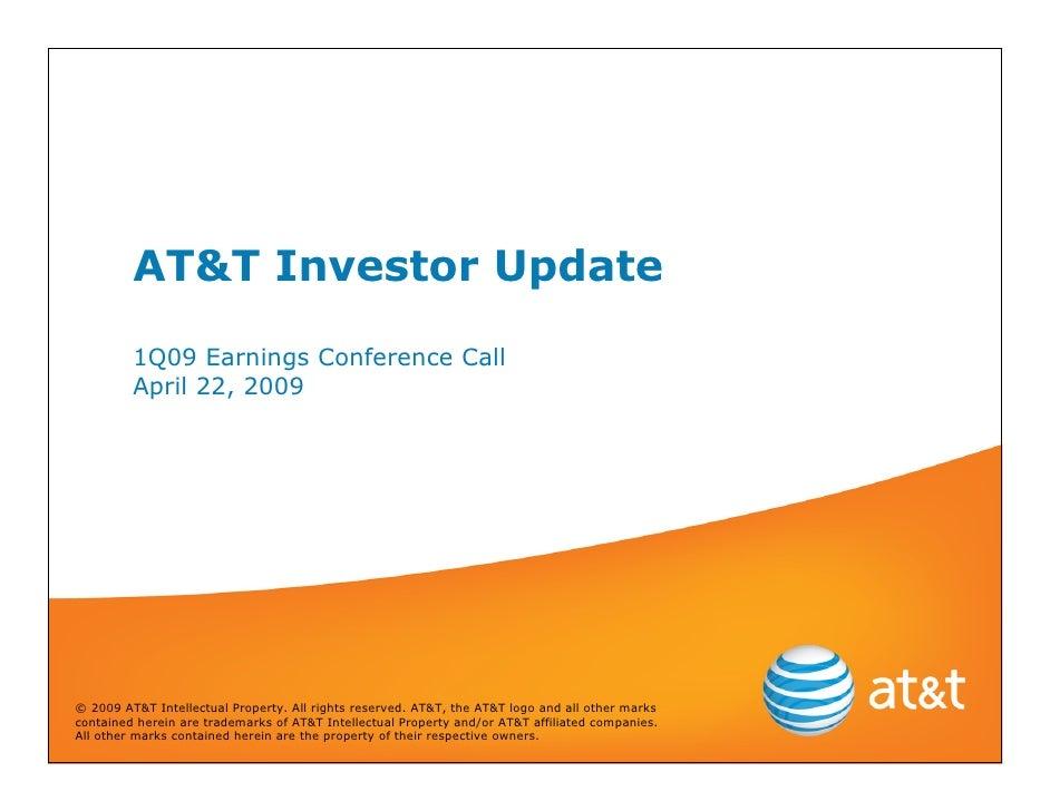 2009q1 AT&T Earnings Slides