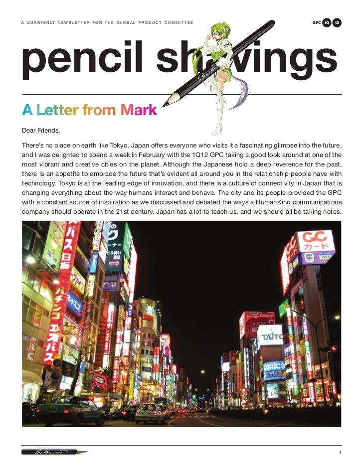 Pencil Shavings: 1Q12 GPC, Tokyo