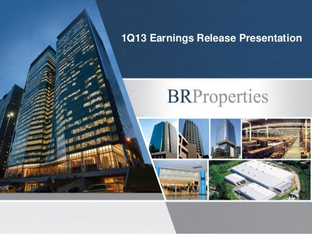 1Q13 Earnings Release Presentation