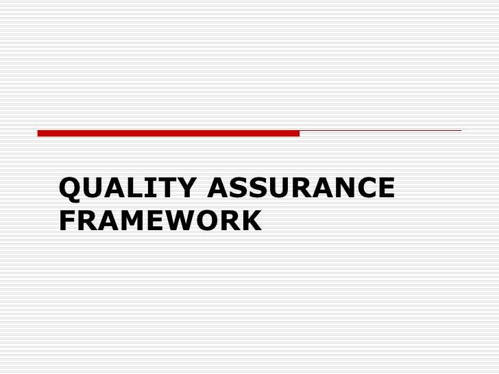 1 Quality Assurance Presentation
