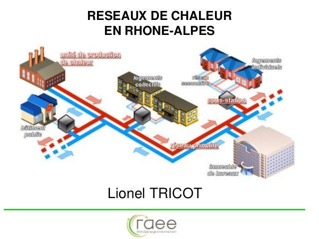 RESEAUX DE CHALEUR EN RHONE-ALPES  Lionel TRICOT
