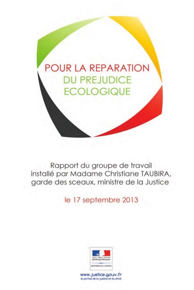 SOMMAIRE INTRODUCTION A - LES FONDEMENTS DU DROIT DE LA RESPONSABILITE ENVIRONNEMENTALE B - LA RECONNAISSANCE PROGRESSIVE ...