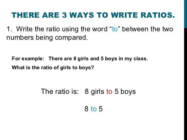 How to write a ratio