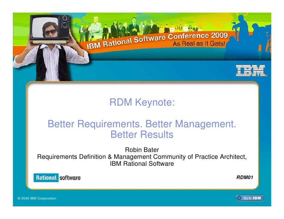 RDM Keynote Robin Bater