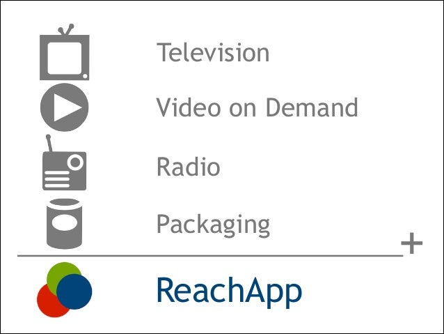 Television Video on Demand Radio Packaging  ReachApp  +