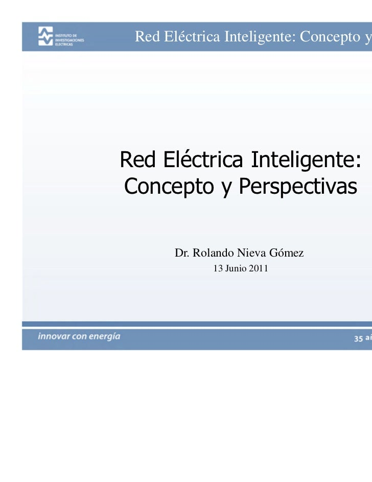 Red eléctrica inteligente: concepto y perspectivas