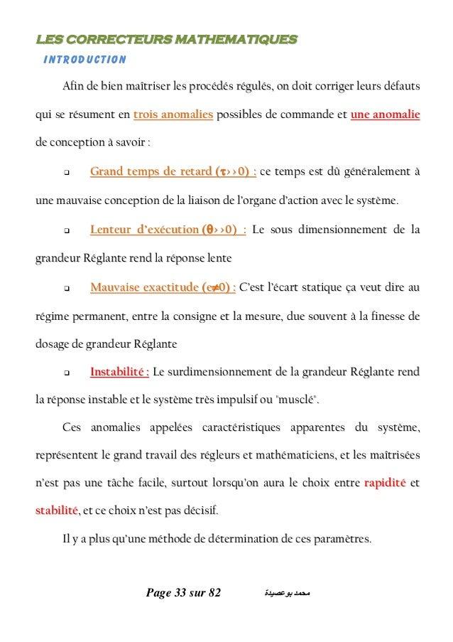 Page 33 sur 82 ﺑﻮﻋﺼﯿﺪة ﻣﺤﻤﺪ LLEESS CCOORRRREECCTTEEUURRSS MMAATTHHEEMMAATTIIQQUUEESS Introduction AAffiinn ddee bbiiee...