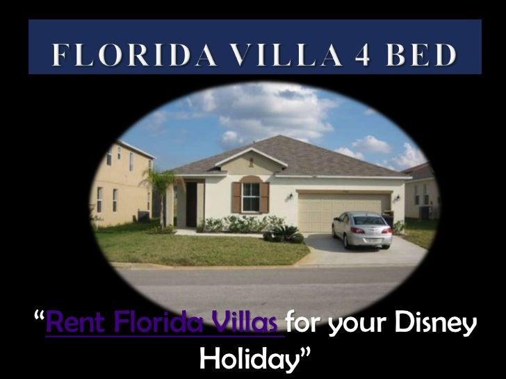 "Florida Villa 4 Bed<br />""Rent Florida Villas for your Disney Holiday""<br />"