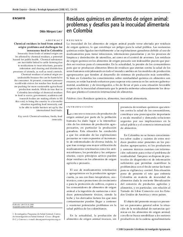 © 2008 Corporación Colombiana de Investigación Agropecuaria Revista Corpoica – Ciencia y Tecnología Agropecuaria (2008) 9(...