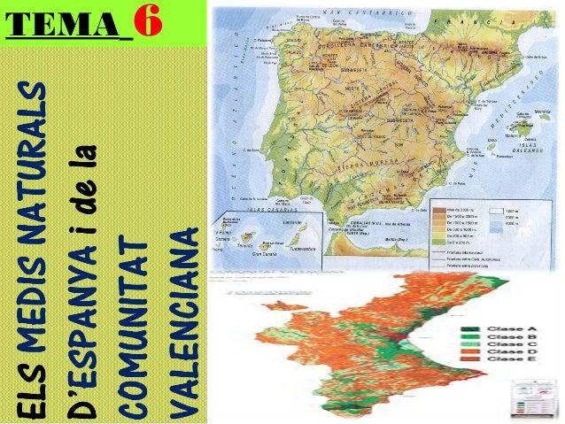 1r eso tema 6-els medis naturals d'espanya i de la comuntvalenc