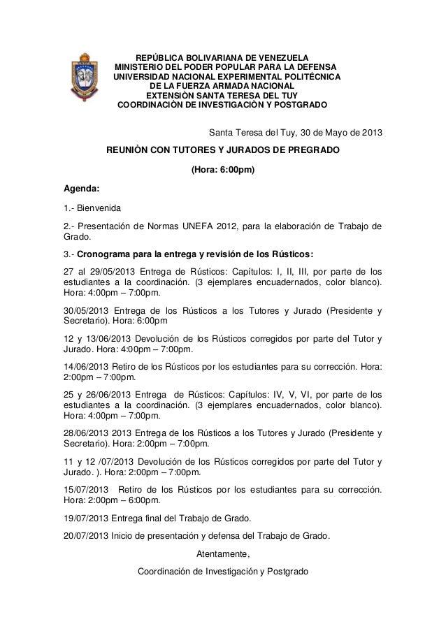 REPÚBLICA BOLIVARIANA DE VENEZUELAMINISTERIO DEL PODER POPULAR PARA LA DEFENSAUNIVERSIDAD NACIONAL EXPERIMENTAL POLITÉCNIC...