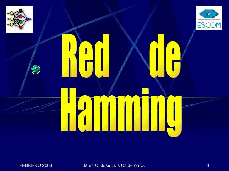 Red   NEURONAL    de Hamming