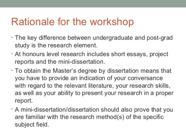 Structural Differences between a Thesis and a Dissertation