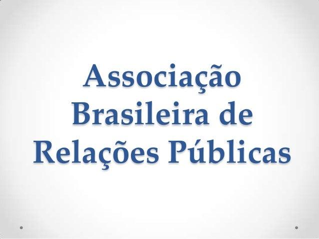 Associação  Brasileira deRelações Públicas