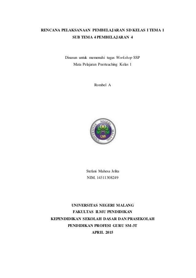 Rpp K13 Sd Kelas I Tema 1 Sub 4 Pb 4