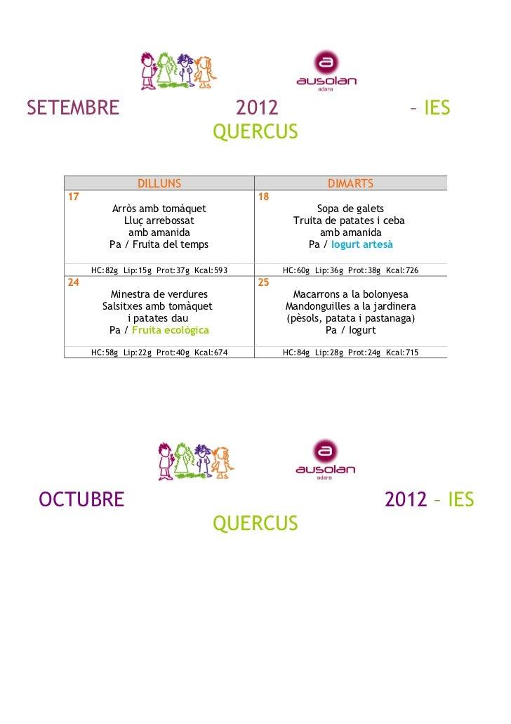 SETEMBRE                              2012                                   – IES                                    QUER...