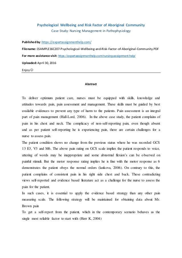 Nursing Essay Sample