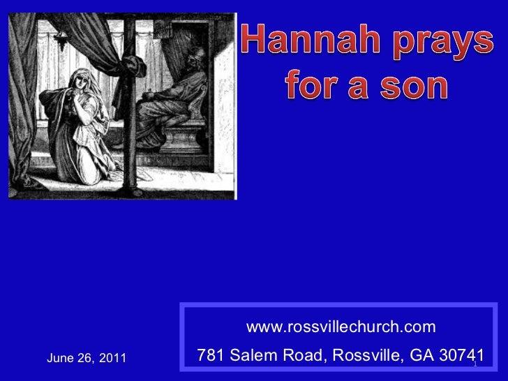 1 samuel 1a Hannah prays for a son
