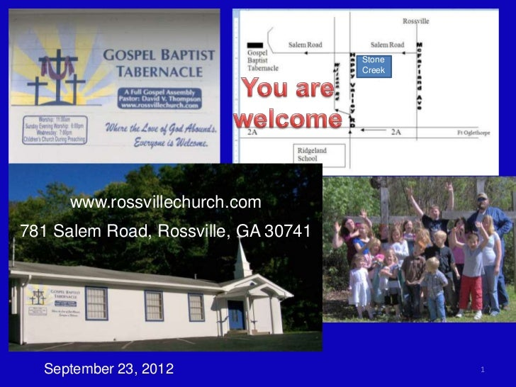 Stone                                      Creek      www.rossvillechurch.com781 Salem Road, Rossville, GA 30741  Septembe...