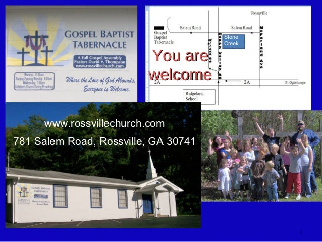 Stone                                      Creek                         You are                         welcome     www.r...