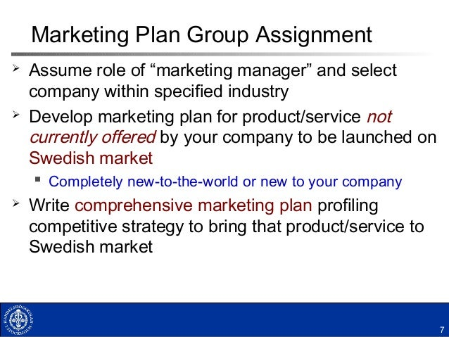 marketing plan assignment one