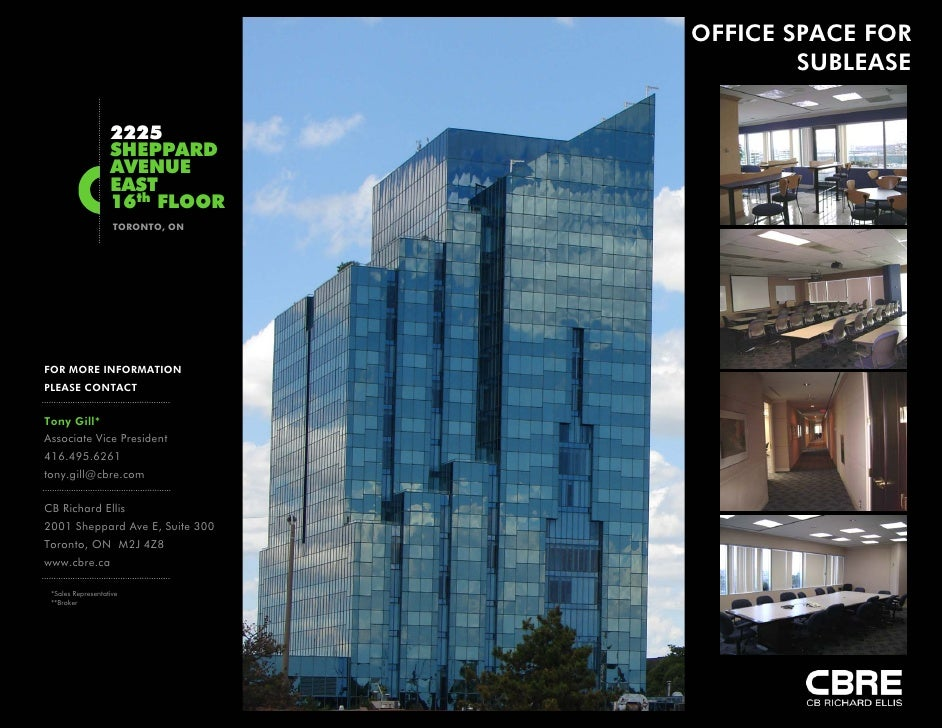 OFFICE SPACE FOR                                           SUBLEASE                     2225                    SHEPPARD  ...