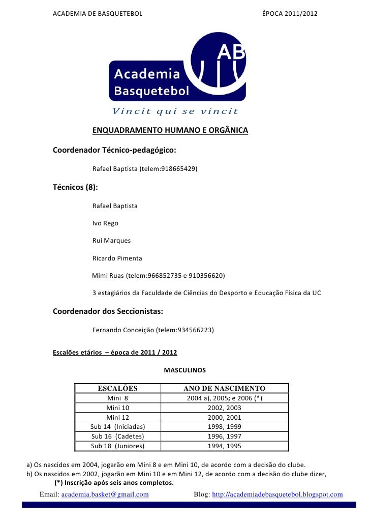ACADEMIADEBASQUETEBOLÉPOCA2011/2012        ...