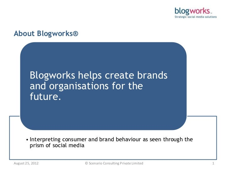 About Blogworks®         Blogworks helps create brands         and organisations for the         future.       • Interpret...
