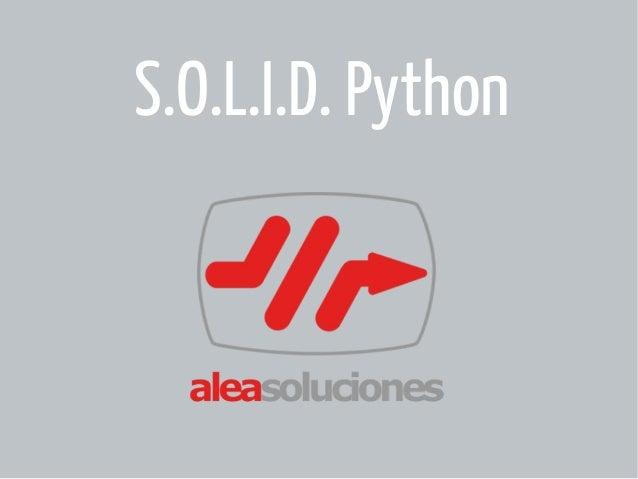 S.O.L.I.D. Python