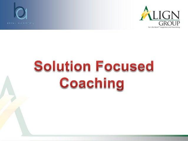 Solution-Focused Coaching