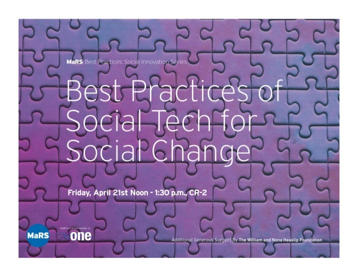 BEST PRACTICES IN SOCIAL TECHNOLOGY FOR FUNDRAISING    Kirs%n Beardsley, CanadaHelps