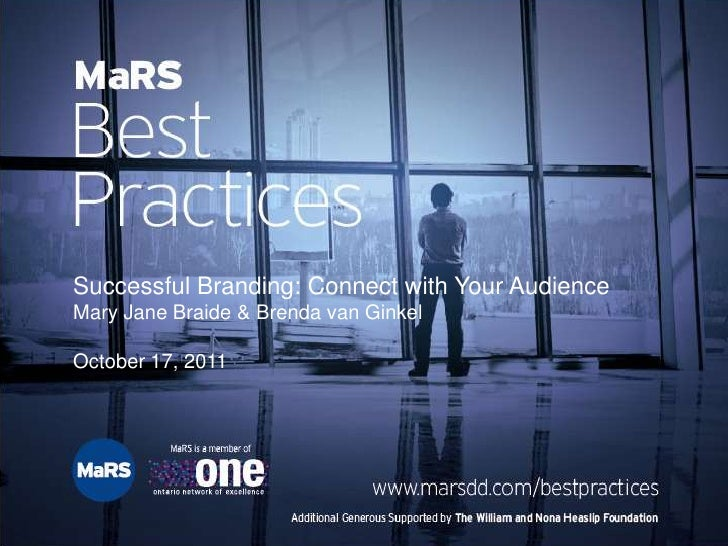 Lean Branding: Positioning your early-stage company for success - MaRS Best Practices