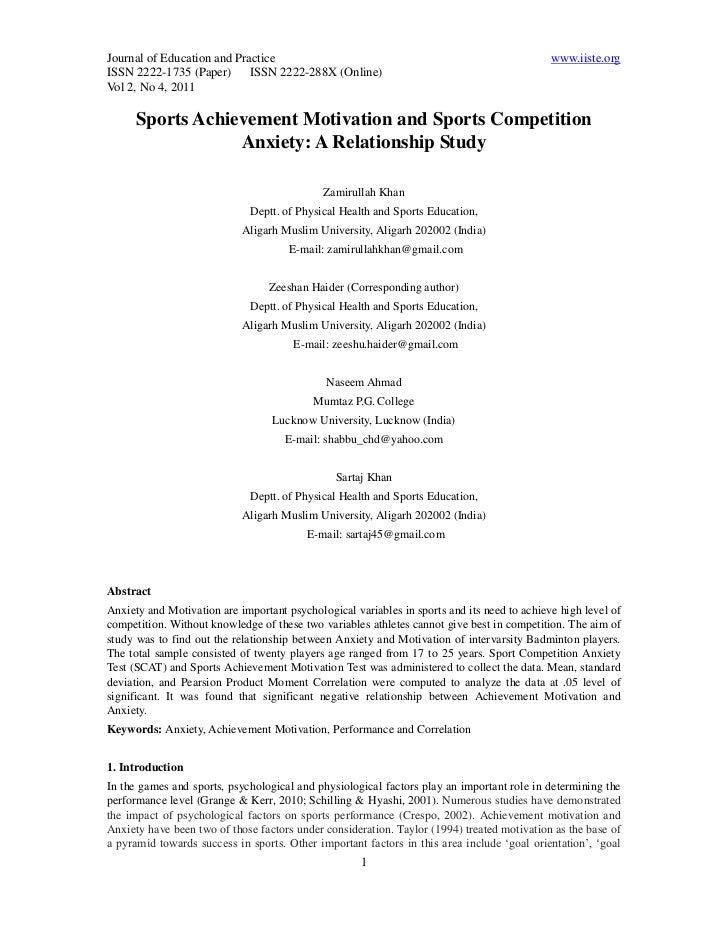 1 sports achievement motivation 1-5
