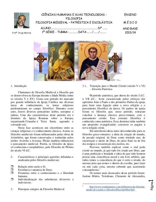 1ª série   filosofia medieval-