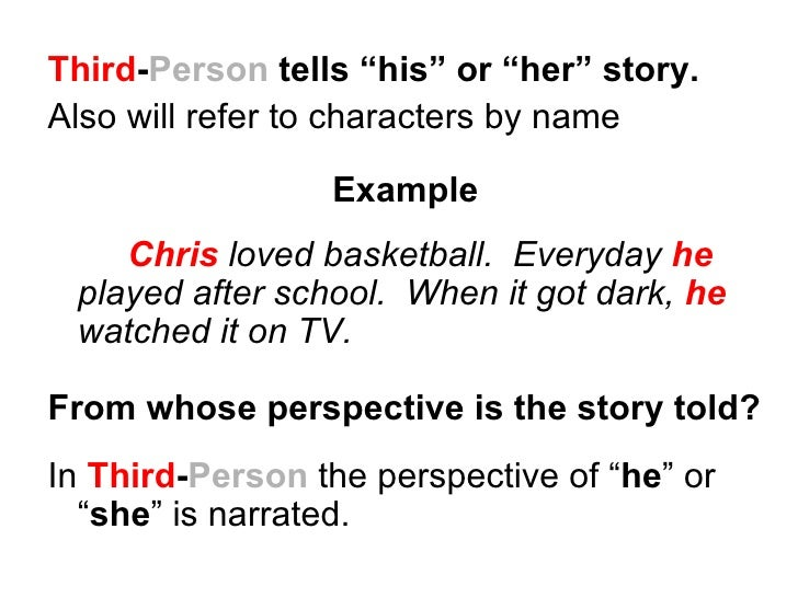 How to write an essay about a story in 3rd person?