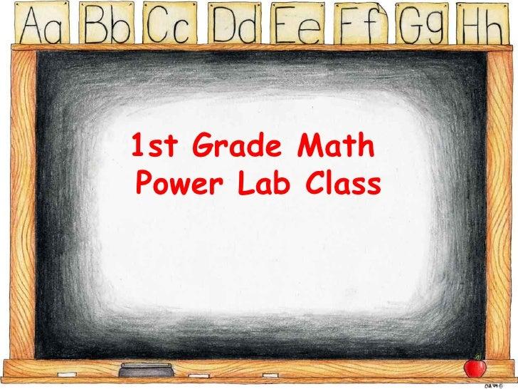 1st Grade Math  Power Lab Class