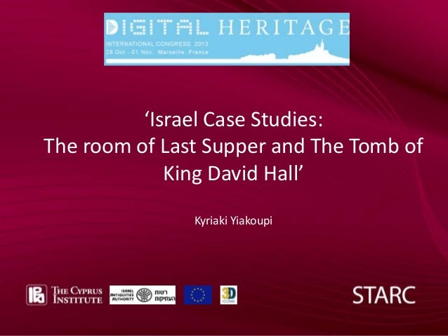Add text ––front page Add text front FRONT COVER page  'Israel Case Studies: The room of Last Supper and The Tomb of King ...