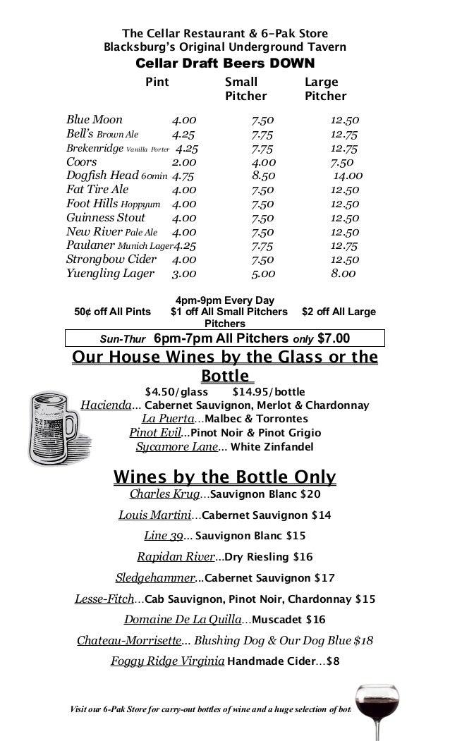 DownStair Beer List