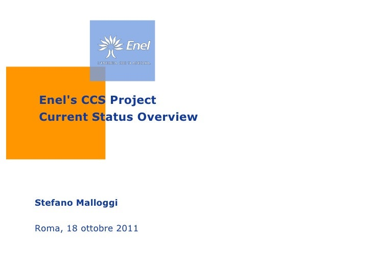 Enel's CCS Project Current Status Overview