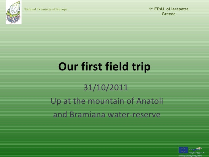 1st field trip of the Greek Comenius team - NaTurE