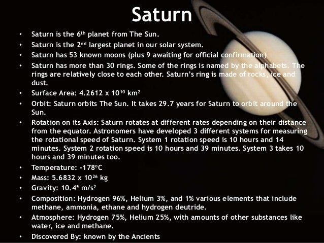 saturn planet information earth - photo #3